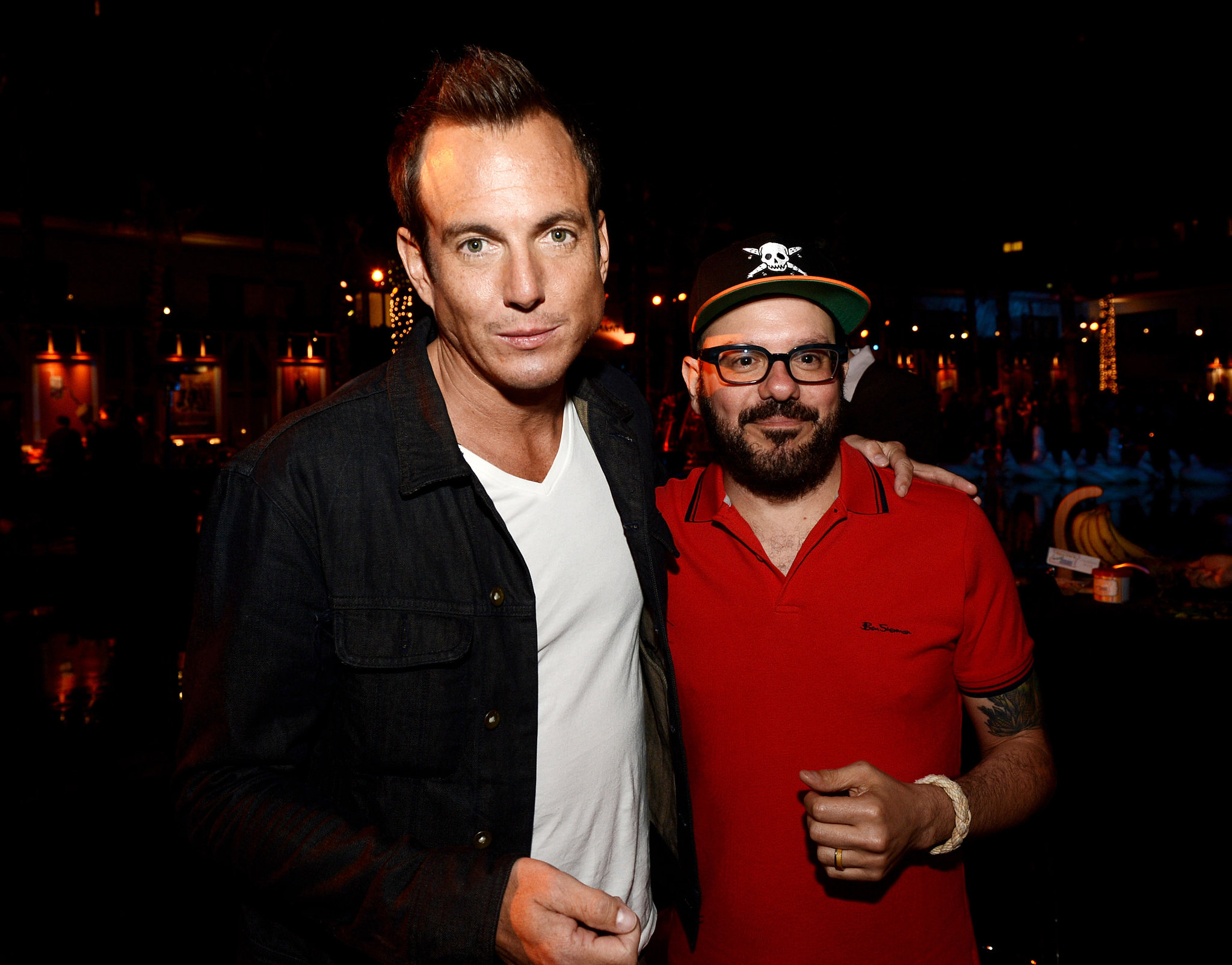 Will Arnett and David Cross chatted after the premiere.