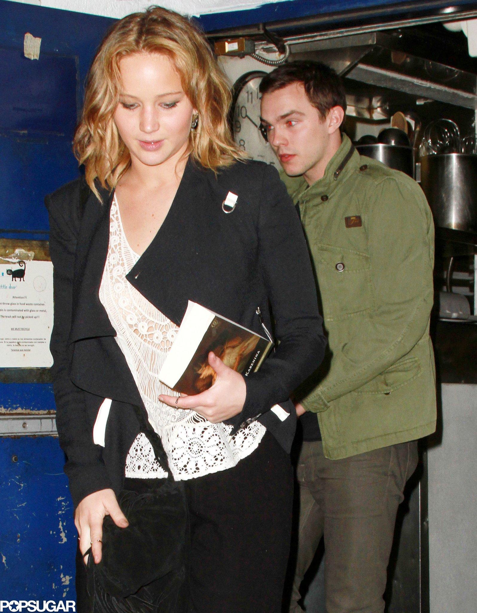 Jennifer Lawrence carried a copy of Anna Karenina.