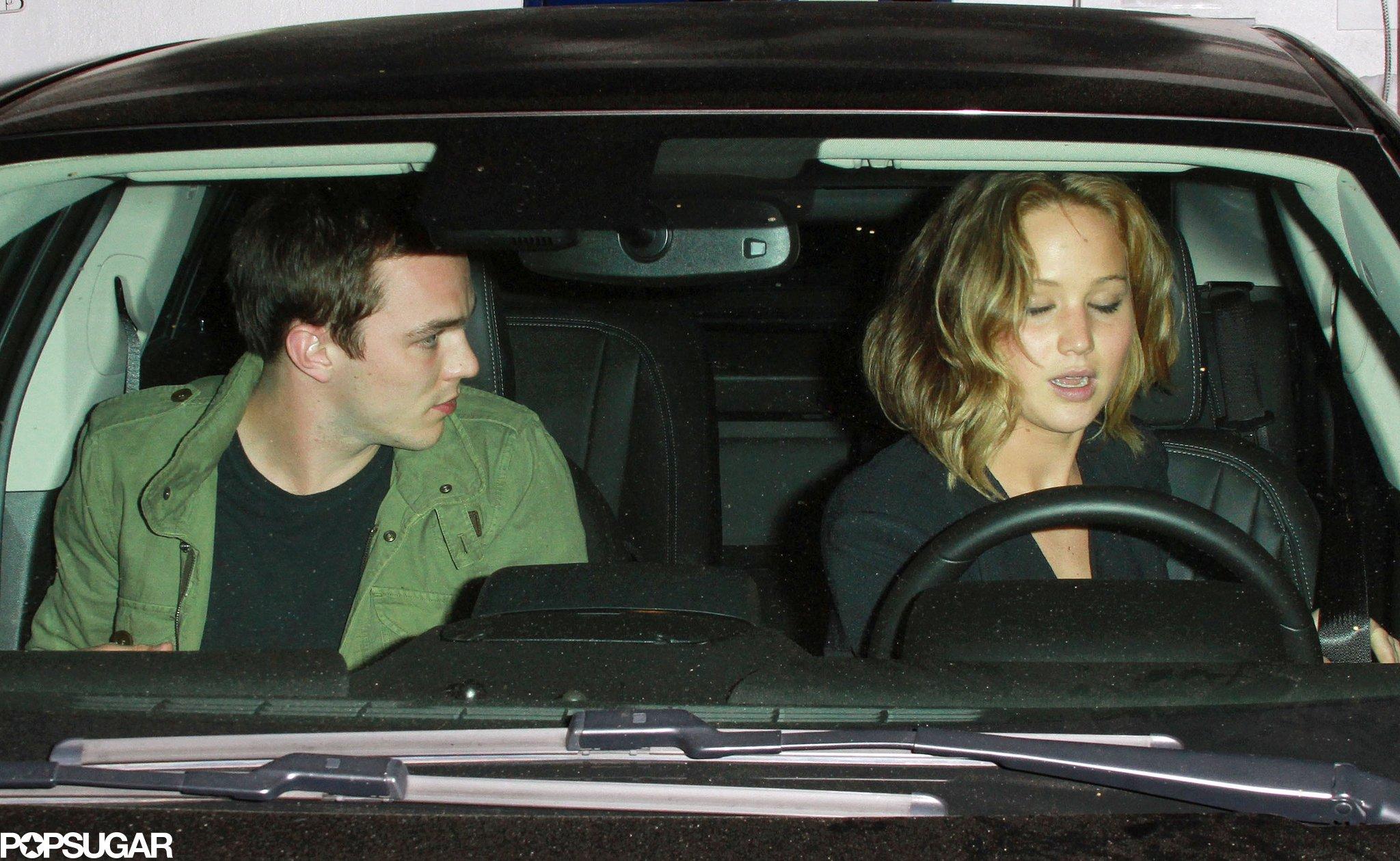 Jennifer Lawrence and Nicholas Hoult got into a car together.