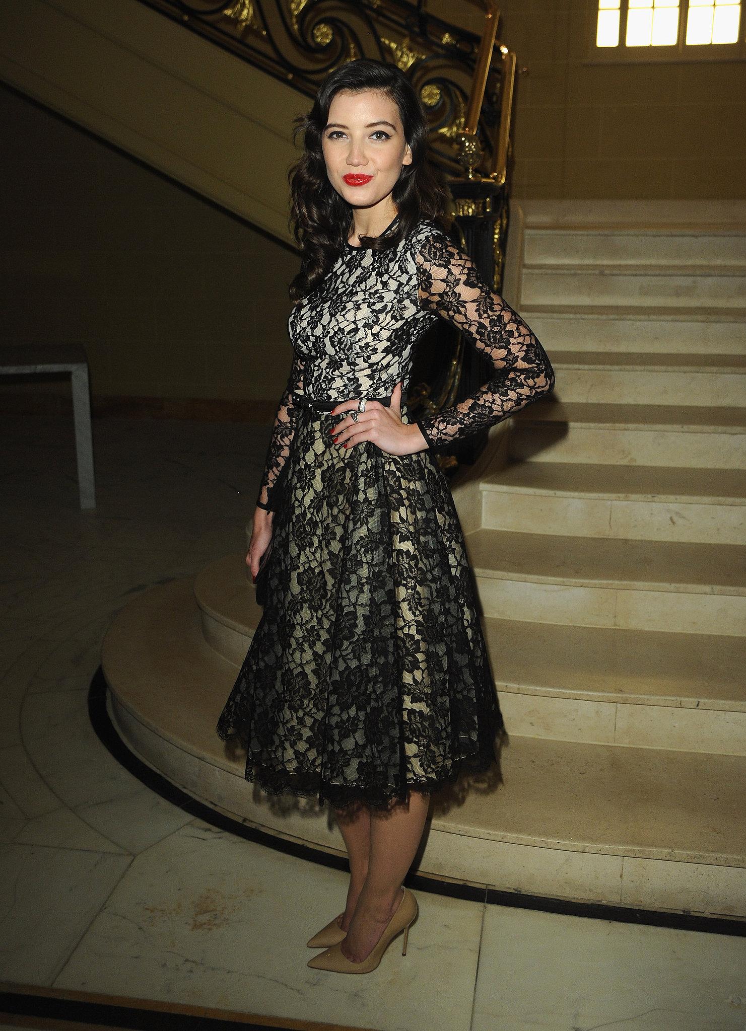Daisy Lowe wore pre-Fall 2013 Michael Kors at Vogue and Alexandra Shulman's dinner honoring Michael Kors in London.