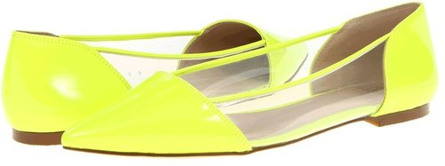 Truth or Dare By Madonna - Quilliams (Neon Yellow/Patent PU/Clear PVC) - Footwear