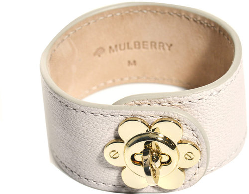 Mulberry Flower lock leather bracelet