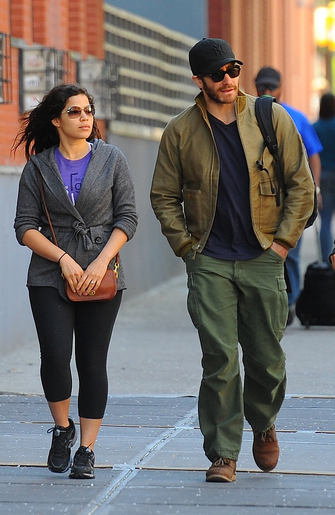 Jake Gyllenhaal wrapped up his celebrity stint on Tuesday during a SoHo stroll with America Ferrera, who he starred with in 2012's End of Watch.