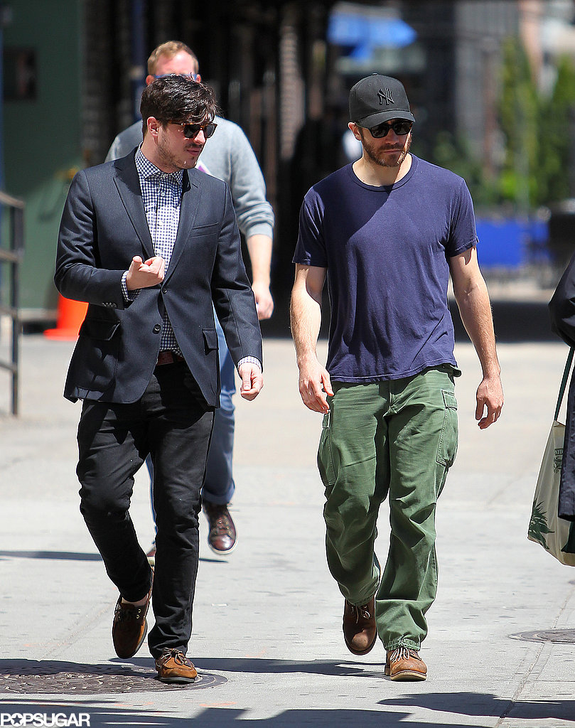 On Tuesday, Jake Gyllenhaal had his musical buddy Marcus Mumford by his side. They've been friends for a while and Jake even attended Marcus's 2012 wedding to Carey Mulligan.