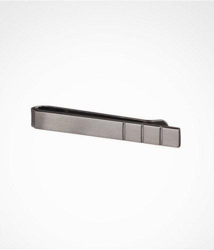 Short Ridged Metal Tie Clip
