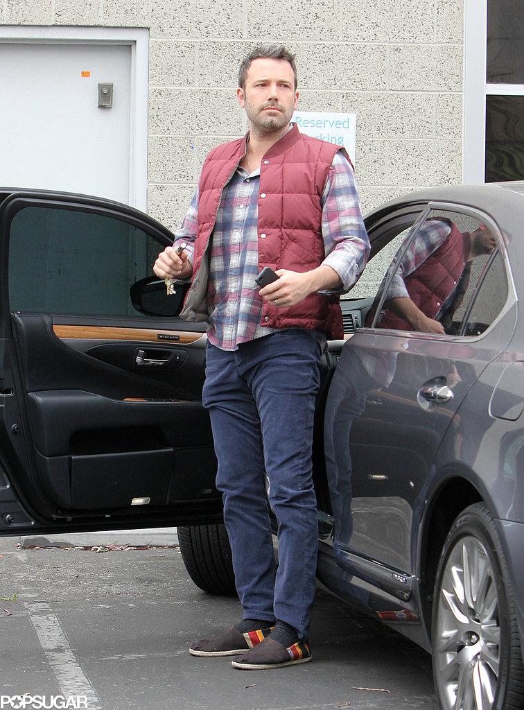 Ben Affleck wore a puffy vest.