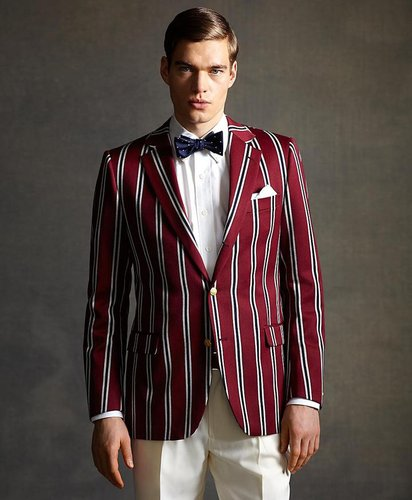 The Great Gatsby Collection Burgundy Stripe Regatta Blazer