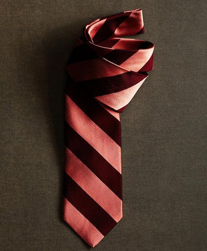 The Great Gatsby Collection Burgundy and Pink Large BB#4 Stripe Tie