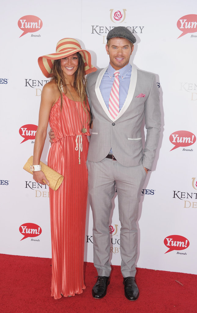 Kellan Lutz hit the red carpet with his girlfriend, Sharni Vinson, in 2012.