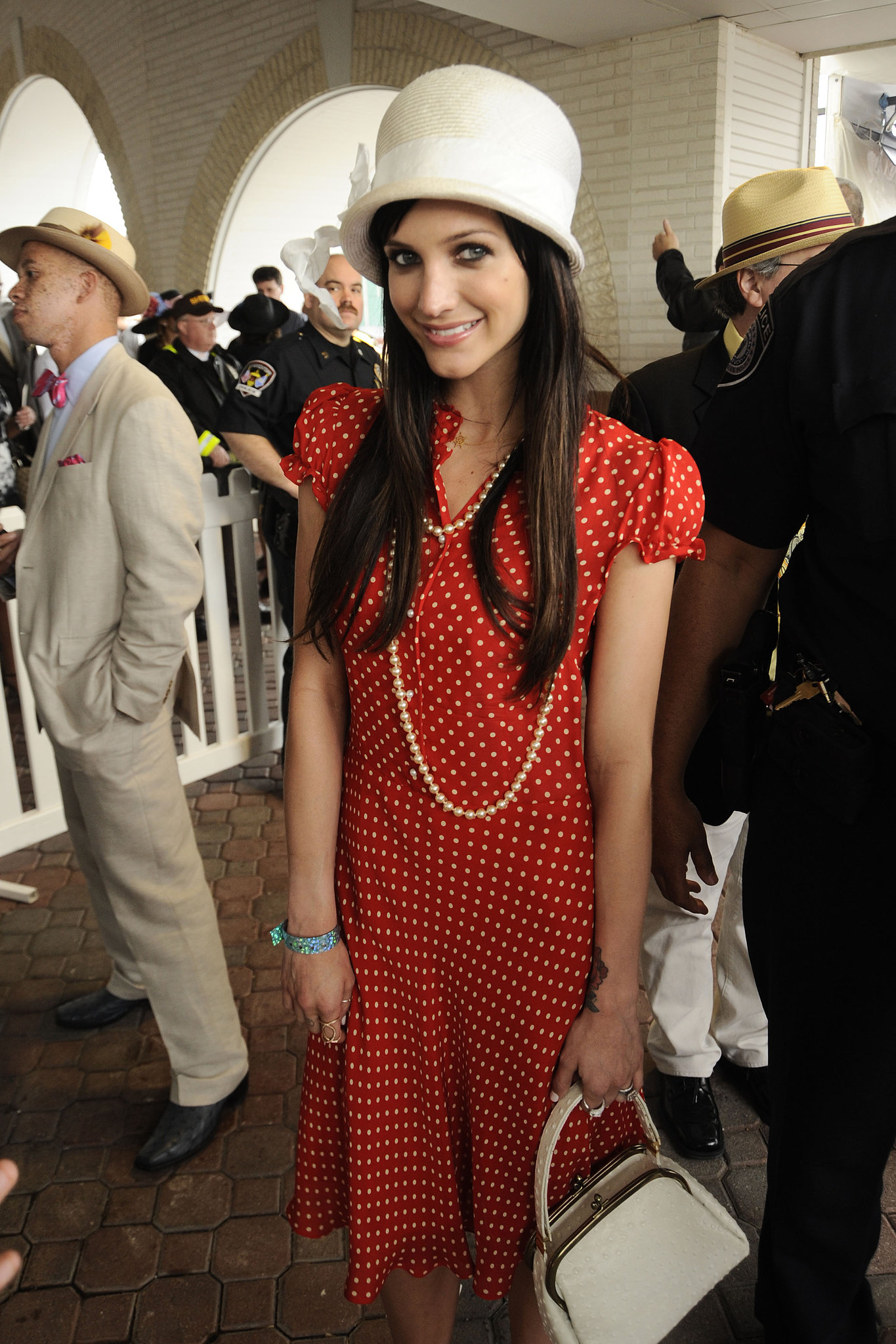 Ashlee Simpson posed in polka dots in 2010.