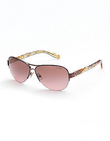 RALPH BY RALPH LAUREN EYEWEAR Semi-Rimless Aviator Sunglasses