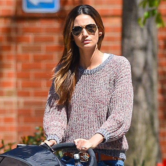 Lily Aldridge With Daughter Dixie in NYC   Photos