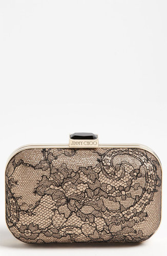 Jimmy Choo 'Cloud Lace' Box Clutch