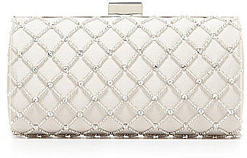 Kate Landry Social Crisscross Beaded Frame Clutch