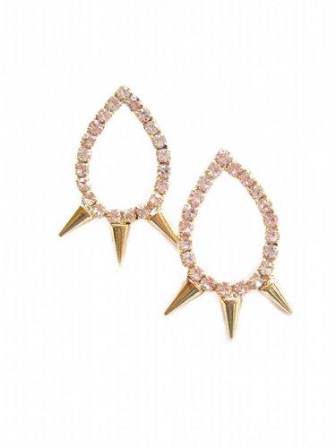K. Amato Crystal Spike Earrings