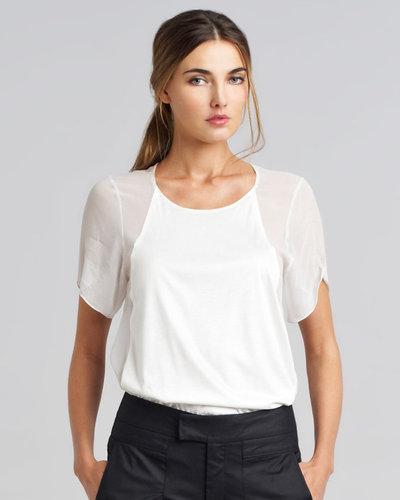 Helmut Lang Vena Slouchy Panel T-Shirt