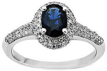 LORD & TAYLOR Sapphire Ring in 14 Kt. White Gold, .2 ct. t.w.