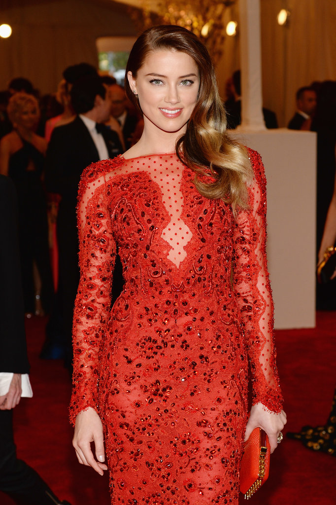 Amber Heard at the Met Gala 2013.