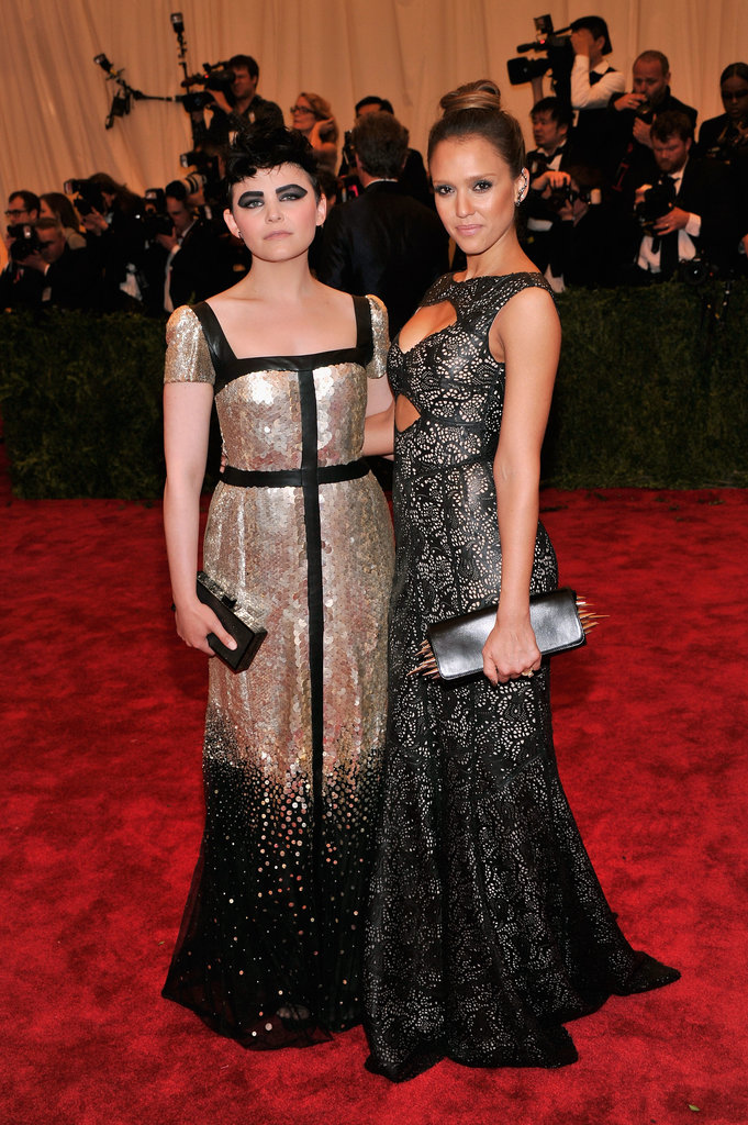 Ginnifer Goodwin and Jessica Alba at the Met Gala 2013.