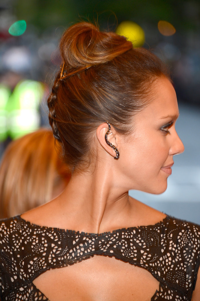 Jessica Alba's upside-down braid, which she wore at this year's Met Gala, is a fun and easy style to re-create.