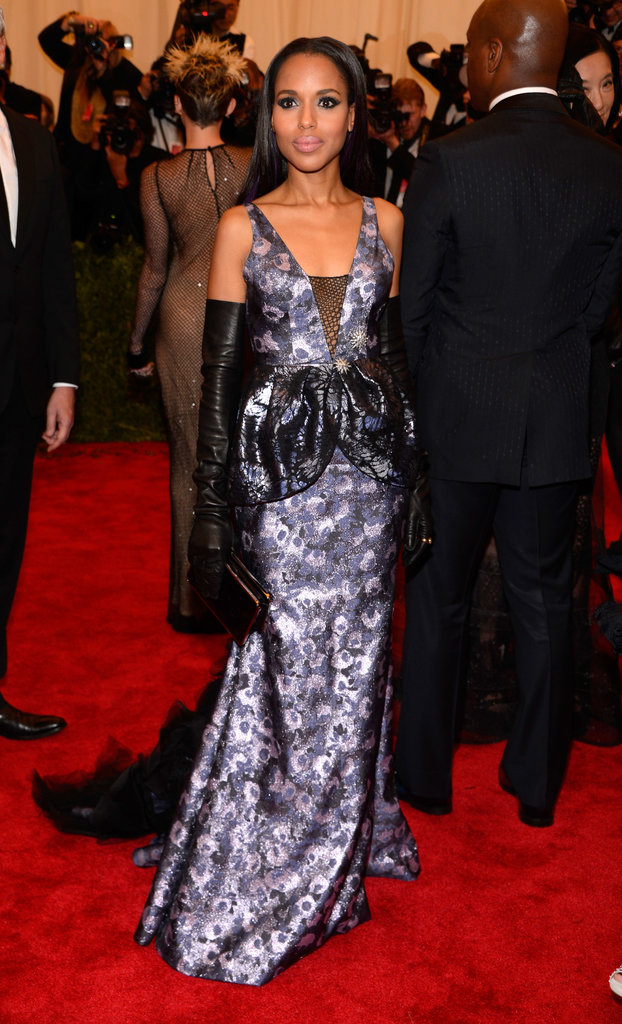 Kerry Washington kept her rocker chick look glamorous in a Vera Wang gown.