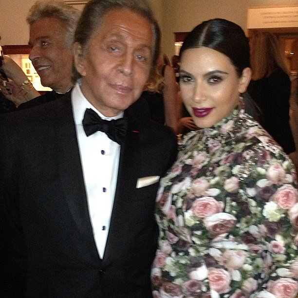 Kim Kardashian met up with Valentino inside the Met Gala. Source: Instagram user kimkardashian