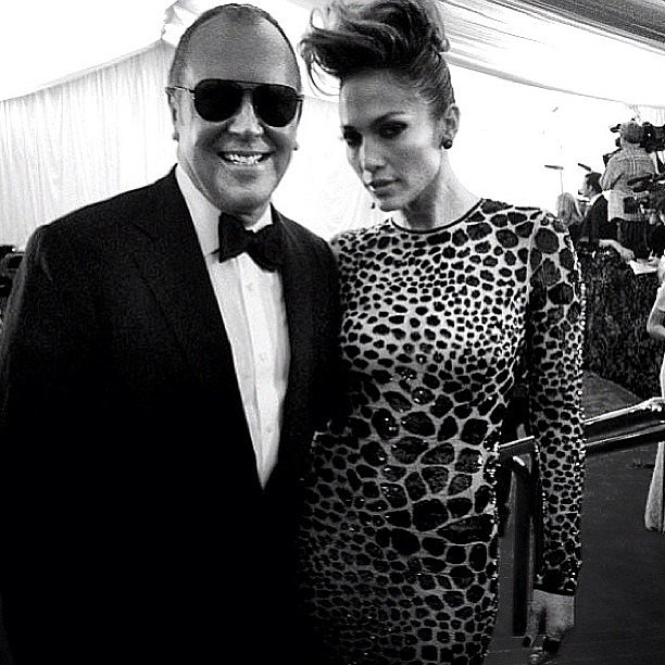"Michael Kors shared this picture and said he was ""thrilled"" to be spending the night with Jennifer Lopez. Source: Instagram user michaelkors"