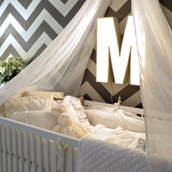 Molly Mesnick's Gray Chevron Nursery