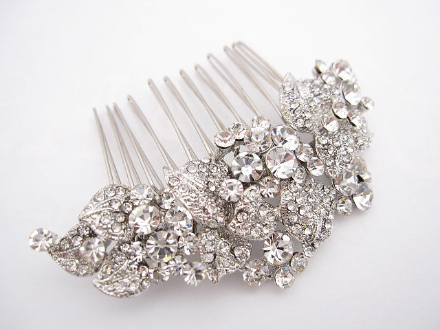 There's something stunning and classic about a crystal hair comb ($49).