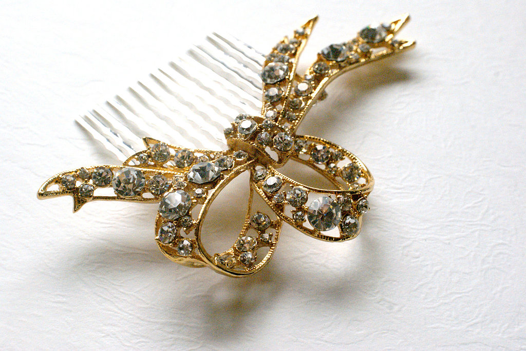 Tuck this sparkling bow hair comb ($66) in your hair for a whimsical touch.