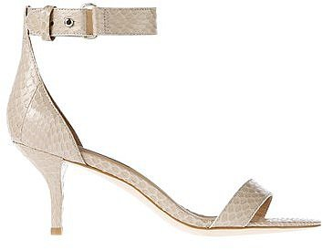 Mara Exotic Leather Kitten Heel Sandals