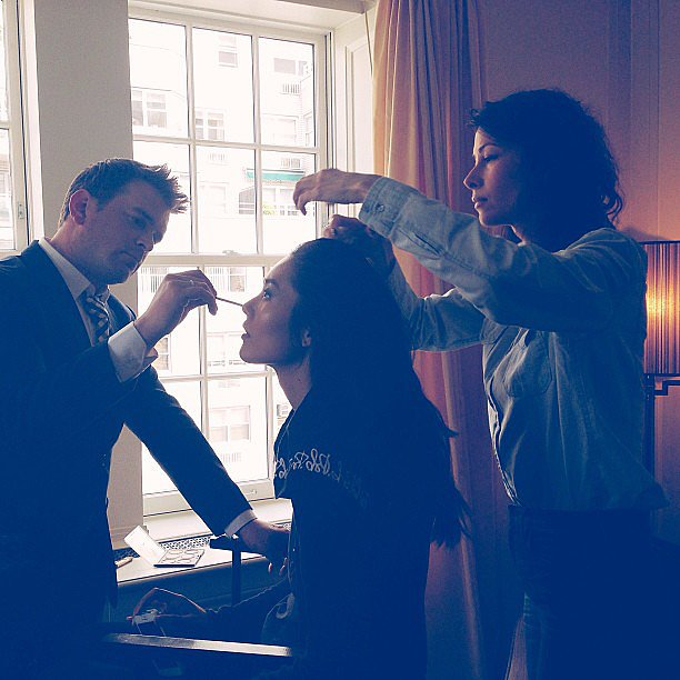 Bumble and Bumble and Estée got Liu Wen ready for the Met Gala. Source: Instagram user bumbleandbumble