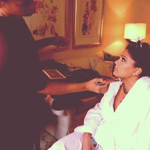 Rachel Roy got her hair and makeup done before the festivities. Source: Instagram user rachel_roy
