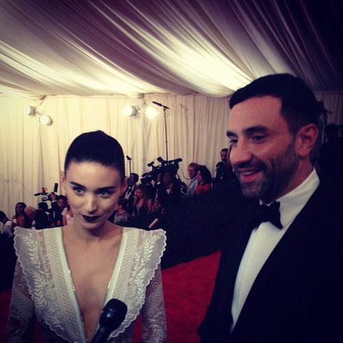 Rooney Mara arrived on the red carpet with Givenchy designer Riccardo Tisci. Source: Instagram user mtvstyle