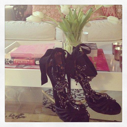 Miranda Kerr showed off her Met Gala shoes. Source: Instagram user mirandakerr