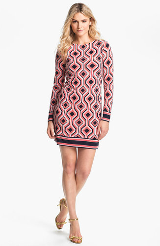 MICHAEL Michael Kors Argyle Print Shift Dress