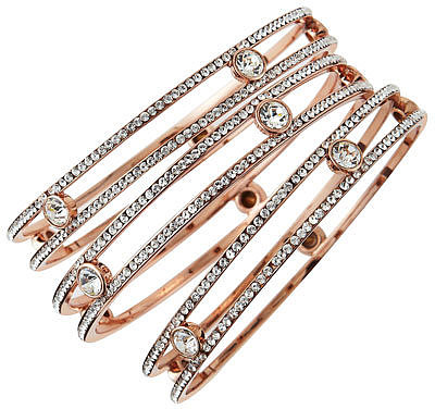 ABS by Allen Schwartz Rose Golden Three-Bangle Set