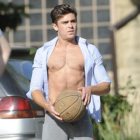 Zac Efron Shirtless Pictures on Townies Set