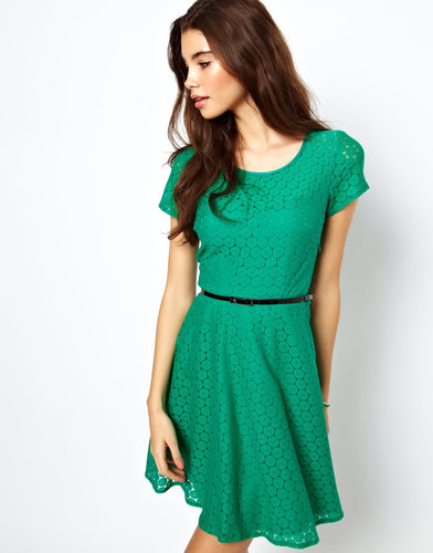 ASOS Skater Dress In Circle Lace
