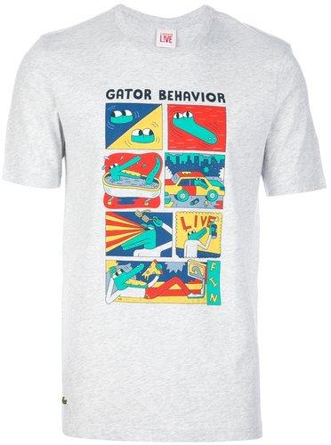 Lacoste Live 'Gator Behaviour' t-shirt