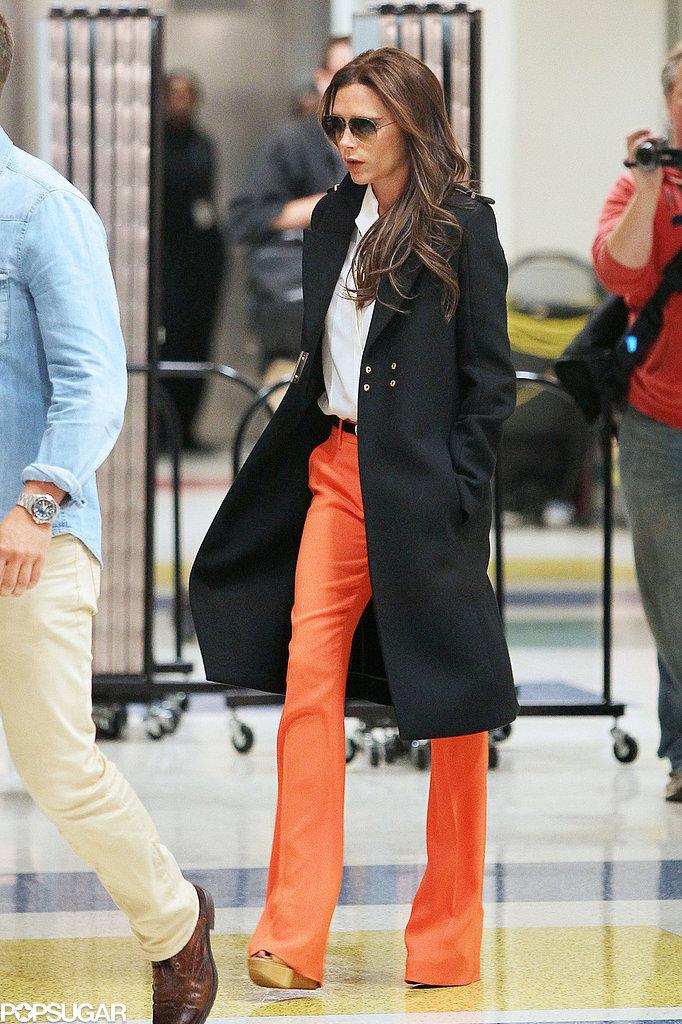 Victoria Beckham landed in JFK.