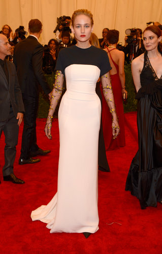 Leelee Sobieski in Black and White Dior Gown