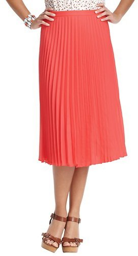 Pleated Mid Length Skirt