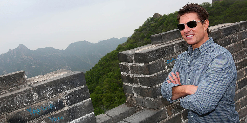 Tom Cruise Has an Awesome Day at the Great Wall of China