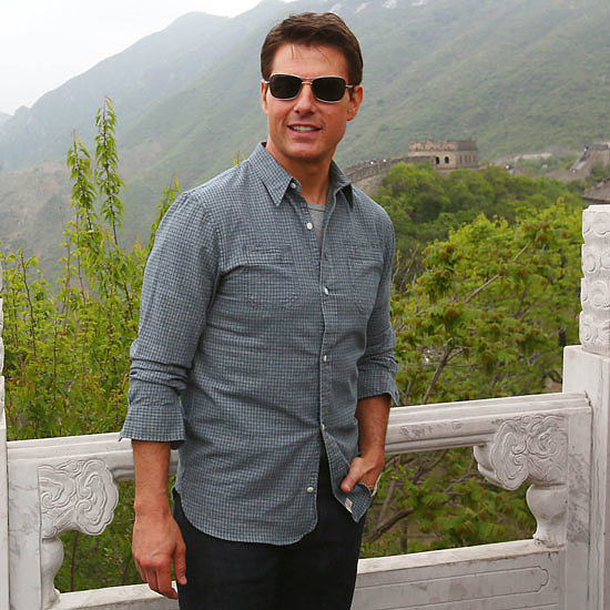 Tom Cruise at the Great Wall of China