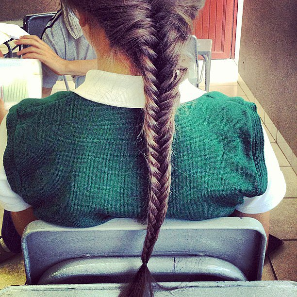 We love a good fishtail braid, and this long one is beautiful. Source: Instagram user zays_