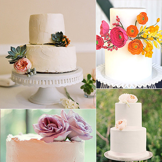 You won't find any frills or fuss here. When it comes to wedding cakes, grandiose designs don't always cut it. That's why POPSUGAR Food has rounded up cakes without all the pomp and circumstance for couples with sleek and simple style.