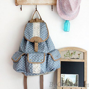 Fresh Polka Dot Canvas Backpacks