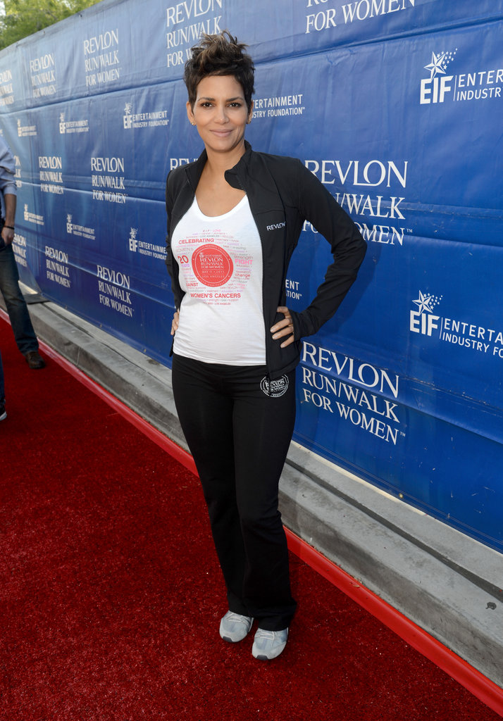 Halle Berry attended the Revlon Run/Walk in LA.