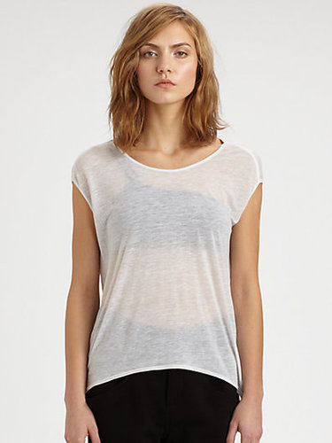 Helmut Lang Heathered Jersey Tee